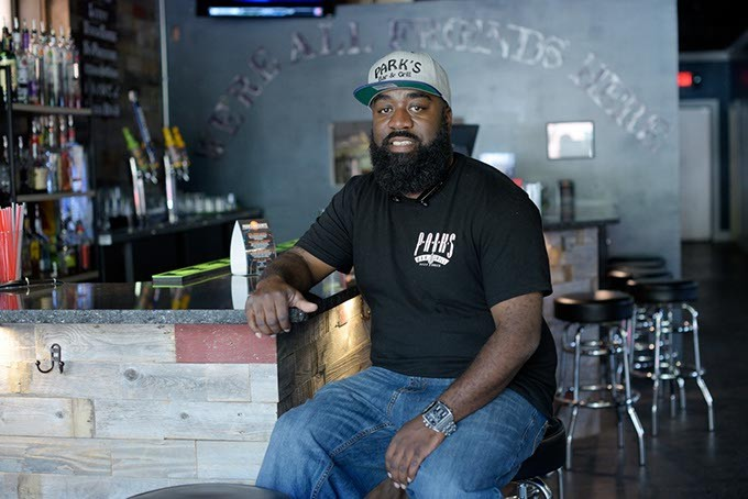 Parks Prince poses for a photo at Parks Bar and Grill, Monday, April 10. 2017. - GARETT FISBECK