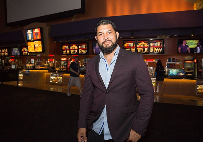 """Actor, Wilson Navas,  poses for a photo at the Dead Center Film Festival in Harkins Theatre in Oklahoma City, Sunday, June 12, 2016.  Navas played the role of drug dealer  'Jorge' in the film """"O, Brother!"""". - EMMY VERDIN"""