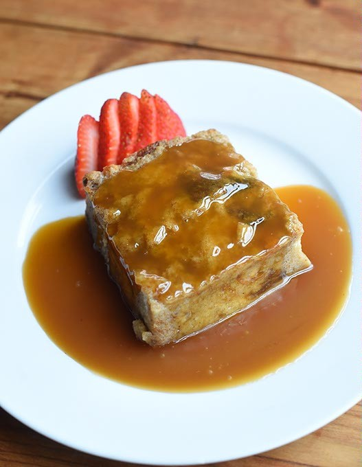 Bread pudding with Guinness toffee sauce at The Barrel, Thursday, May 19, 2016. - GARETT FISBECK