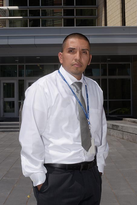 Manuel Hernandez sees himself as the bridge between the courthouse and community. He is largely responsible for the court's community outreach efforts and assisting the public through the municipal court process. (Garett Fisbeck)