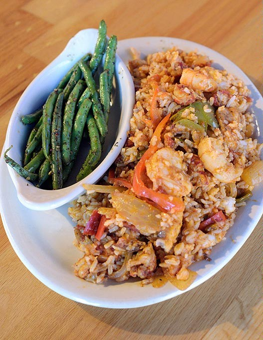 Seafood jambalaya at The Shack in Oklahoma City, Thursday, July 21, 2016. - GARETT FISBECK