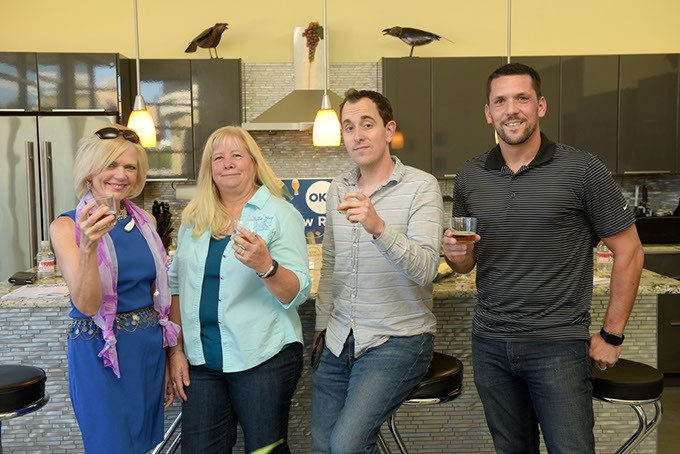 Mary Coyne, Gail White, Jacob Threadgill and Nick Trougakos partcipate in the Fall Brew Review. | Photo Garett Fisbeck
