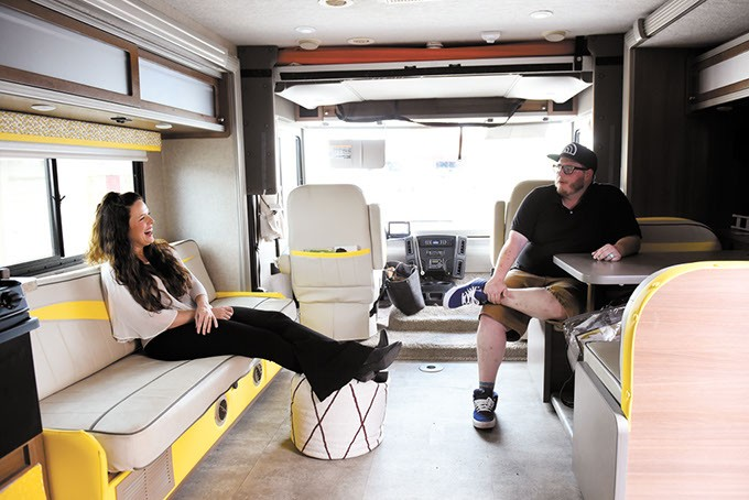 Charles and Ronda Parker in their RV in Oklahoma City, Wednesday, May 18, 2016. - GARETT FISBECK