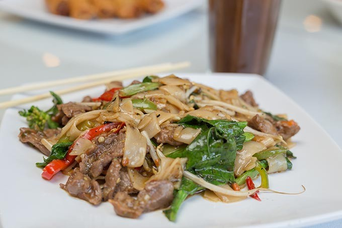 Thai House serves Kee Mao Noodle-Thai drunken noodle on Monday, June 27, 2016 in Oklahoma City. - EMMY VERDIN