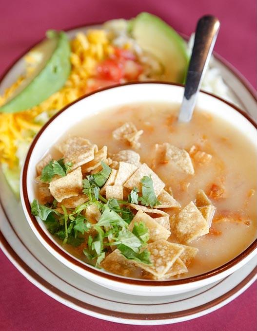 Tortilla soup at Alvarado's in Edmond, Wednesday, Aug. 26, 2015. - GARETT FISBECK
