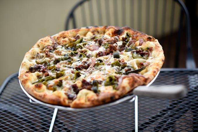 Brisket Pizza at The Wedge, Friday, March 18, 2016. - GARETT FISBECK