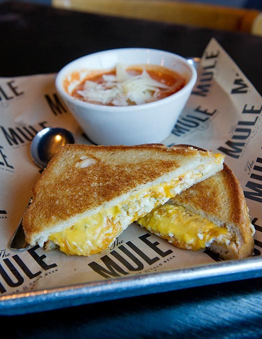 Big Ass Grilled Cheese (Feeling Bleu) at The Mule in Oklahoma City, Wednesday, Feb. 10, 2016. - GARETT FISBECK