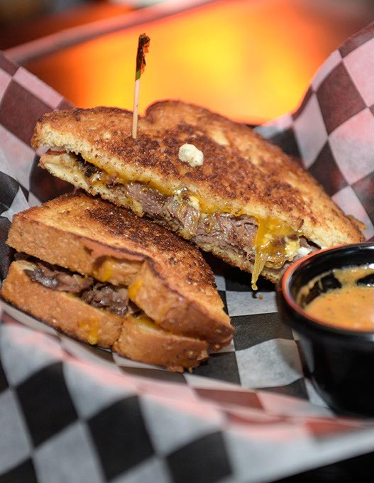 Grilled cheese with blue cheese and braised beef at Ned's Kitchen, Monday, Dec. 19, 2016. - GARETT FISBECK