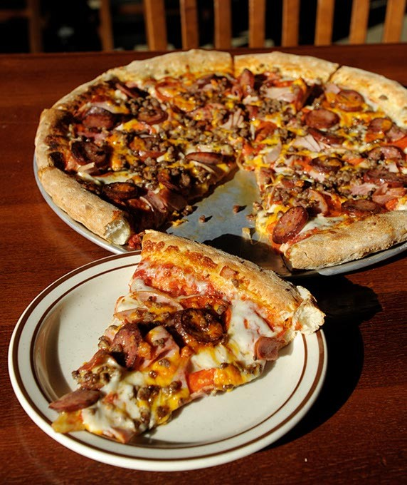 """The """"Big Country"""" at Hideaway Pizza in Oklahoma City, Wednesday, Nov. 19, 2014. - GARETT FISBECK"""