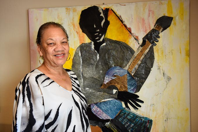 Anita Arnold poses for a photo at Black Liberated Arts Center, Friday, May 13, 2016. - GARETT FISBECK