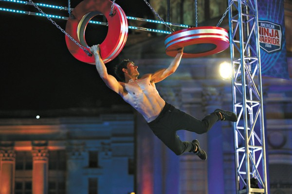 Andrew Lowes competes in American Ninja Warrior at the Oklahoma Captiol. - BRETT DEERING / NBC/ PROVIDED