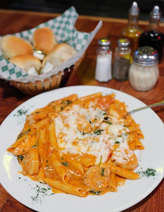 Baked Tuscany at PortoFino's Italian Restaurant, Thursday, March 30, 2017. - GARETT FISBECK
