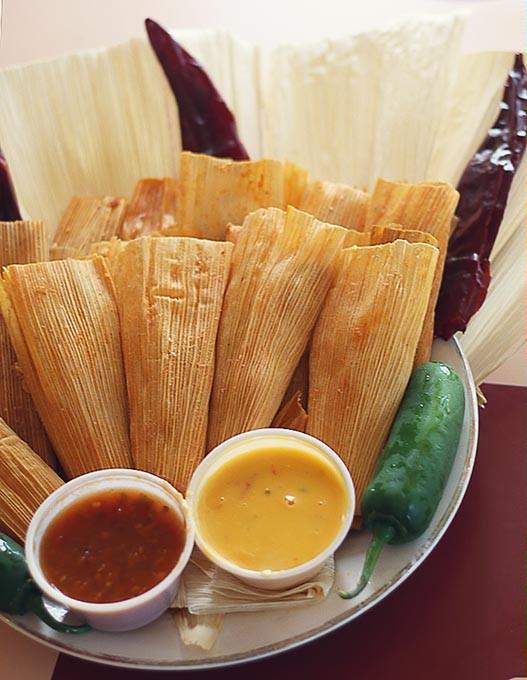 Tamales at Taco Rico. (Cara Johnson).