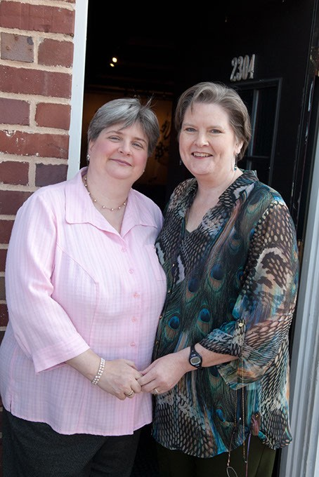 Sharon and Mary Bishop-Baldwin spent nearly 10 years in a legal battle to win the right to marry.   Photo Gazette / file