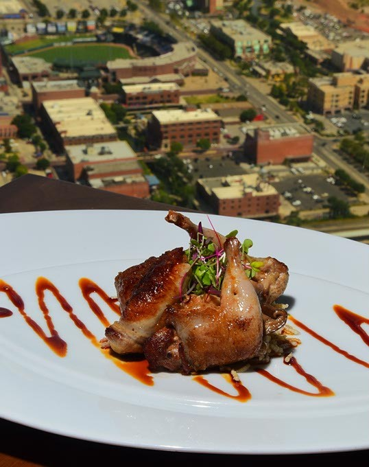 Have your Quail stuffed with pickled shitake and a vast view, at Vast on top of Devon Energy Tower, 9-4-15. - MARK HANCOCK
