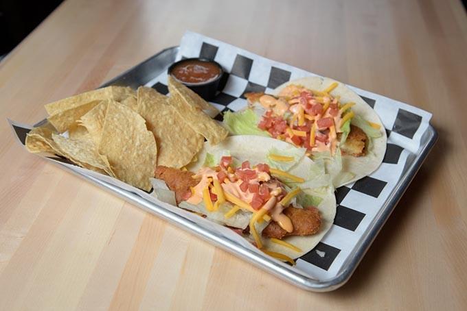 Fish tacos at 1907 Burgers & Brews in Moore, Friday, Sept. 23, 2016. - GARETT FISBECK