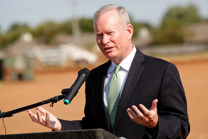 During Mayor Mick Cornett's four terms, he has led the city through one general obligation bond program and the MAPS 3 sales tax initiative. Tuesday, voters decide whether to back the - 2017 General Obligation Bond program and two sales tax initiatives.   Photo Gazette / file - GARETT FISBECK