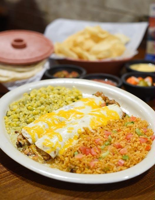Sour cream enchiladas at Ted's Cafe Escondido in Oklahoma City, Friday, May 20, 2016. - GARETT FISBECK
