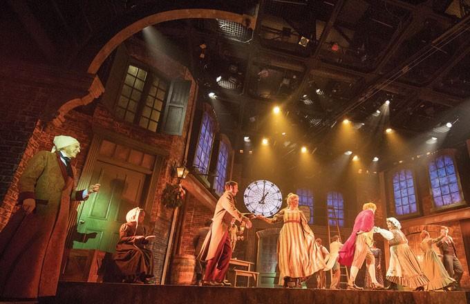 left Dirk Lumbard plays Ebenezer Scrooge in Lyric Theatre's A Christmas Carol. | Photo KO Rinearson / Lyric Theatre of Oklahoma / provided