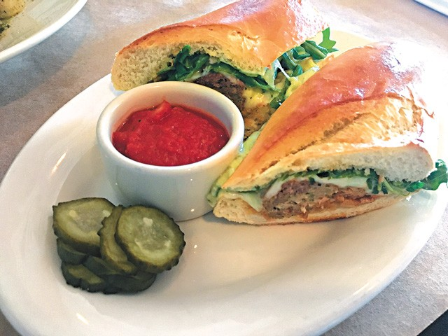 The meatball sandwich is one of the new additions to the Patrono lunch menu. (Photo Jacob Threadgill)