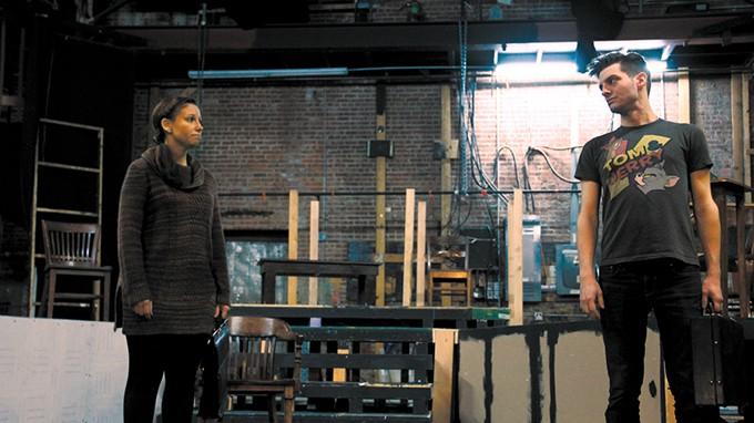 Crystal and Joshua McGowen play Jo Galloway and Daniel Kaffee in Pollard Theatre Company's production of A Few Good Men.   Photo Pollard Theatre Company / provided