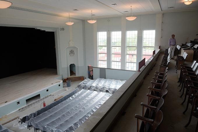 The renovated theater at Page Woodson School serves as a hub for community activity. | Photo Gazette / file