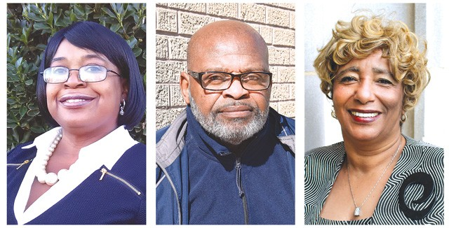left to right Nichell Braddy-Garcia, Willie T. Kelley and Ruth Veales (Photos provided)