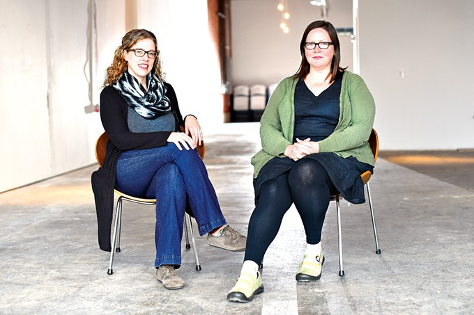 from left Kelsey Karper and Romy Owens founded Current Studio in March 2016. - GAZETTE FILE