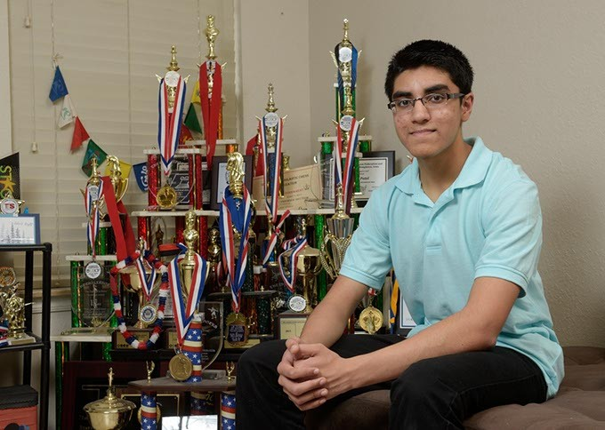 Advait Patel who learned to play chess eight years ago, is now Oklahoma's highest-ranked player at age 15. (Garett Fisbeck)