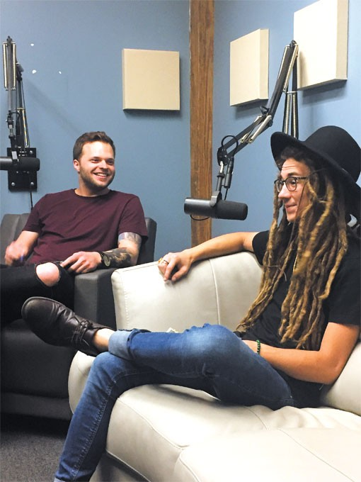 Inside the 405 host Travis Tester left speaks with rapper Chief Peace right during an episode of the show.   Photo Mason Lehman / provided