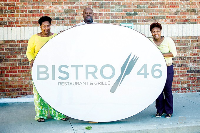 from left Tonya, Donny and Tori Beechum - opened Bistro 46 Restaurant & Grille in 2015. - PHOTO PROVIDED