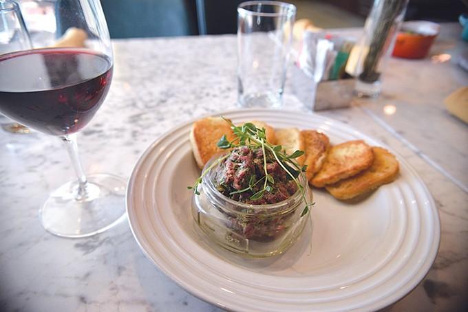 Wagyu tartare is a popular item in warmer months. | Photo Jacob Threadgill