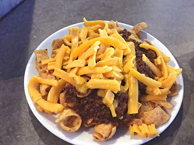 Cheese on the Frito pie arrived unmelted. ( Jacob Threadgill )