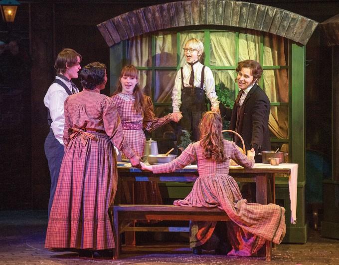 center Anthony Newmann plays Tiny Tim in Lyric Theatre's A Christmas Carol. | Photo KO Rinearson / Lyric Theatre of Oklahoma / provided
