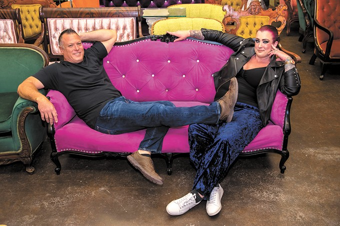 Aubrey York-Ketner and her father Brad York started Fancy Couches in 2017. - MARK HANCOCK