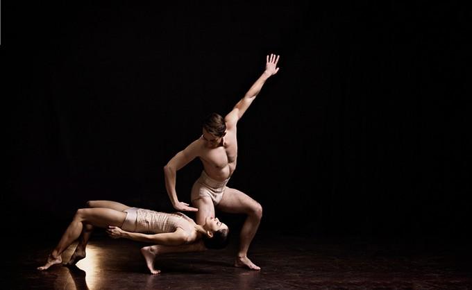 Principal dancers Alvin Tovstogray and Miki Kawamura in Jiří Kylián's Petite Mort - SHEVAUN WILLIAMS AND ASSOCIATES COMMERCIAL PHOTOGRAPHY / OKLAHOMA CITY BALLET / PROVIDED