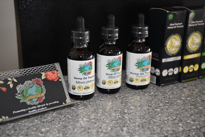 Paseo Art District's Herban Mother sells a variety of spray, topical and other CBD medical products. - JACOB THREADGILL / FILE