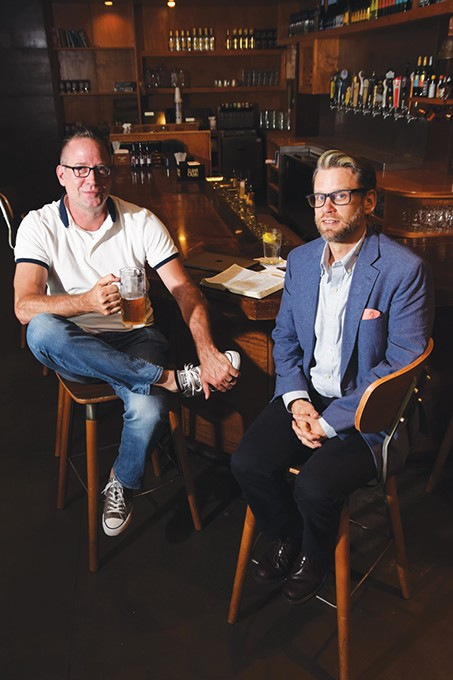 Doug Serven and Bobby Griffith of CityPres spend much of their time meeting the public in coffee shops and bars near the church's Midtown location. - MARK HANCOCK