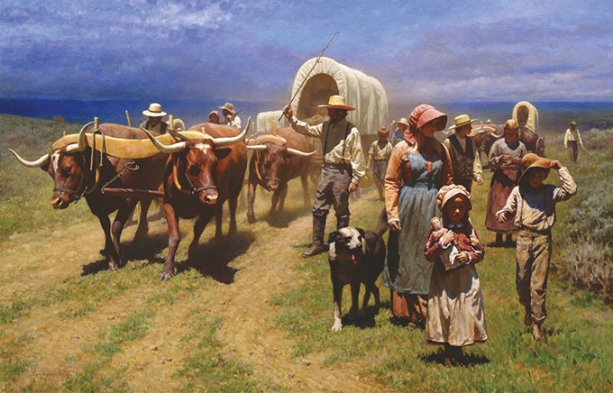 """On The Oregon Trail"" by Benjamin Wu - NATIONAL COWBOY & WESTERN HERITAGE MUSEUM / PROVIDED"