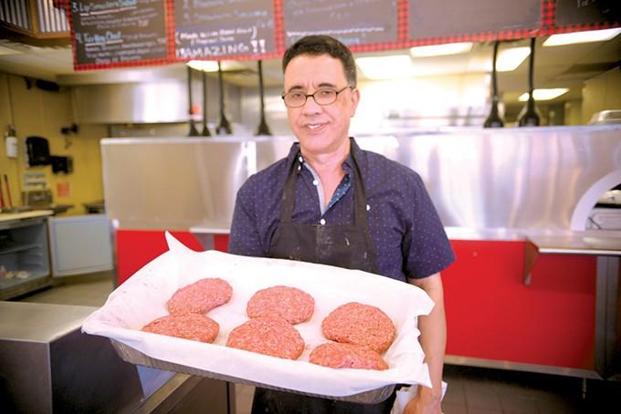Jabbar Chaibainou serves inventive, fresh half-pound hamburgers for under $7. - JACOB THREADGILL
