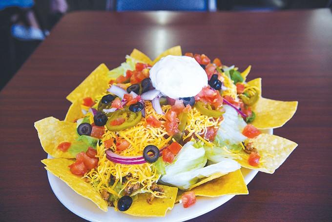Taco salad also features chorizo. - JACOB THREADGILL