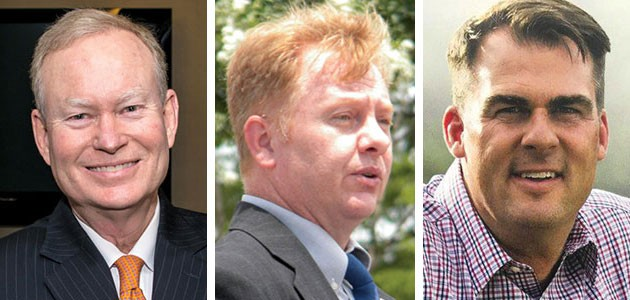 from left to right Mick Cornett, Chris Powell and Kevin Stitt - PROVIDED