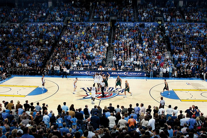 Oklahoma City Thunder's first regular season game against the Milwaukee Bucks October 29, 2008. - PROVIDED