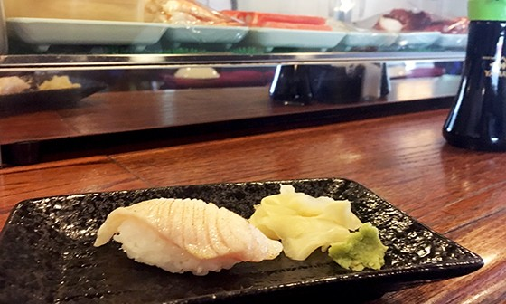 Sable nigiri is briefly touched by a blowtorch before hitting the rice at Tokyo Japanese Restaurant. - JACOB THREADGILL