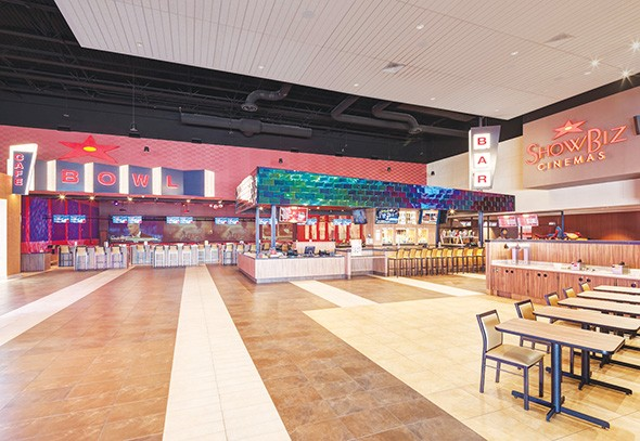 ShowBiz Cinemas features a bowling alley, a bar and 10 screens with recliner seating. - SHOWBIZ CINEMAS / PROVIDED