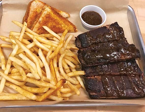 Pork ribs with jerk sauce at Cornish Smokehouse - PROVIDED
