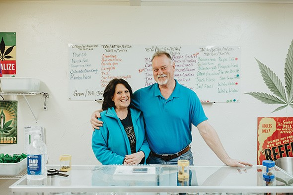 Kelly Dawson and Sam Folmar run The Greens of Central Oklahoma dispensary, 3401 NW 23rd St. - ALEXA ACE