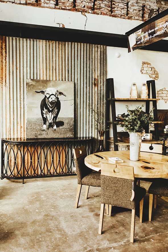 Rustic materials are often used to create something uniquely modern at Grain & Grange. - ALEXA ACE