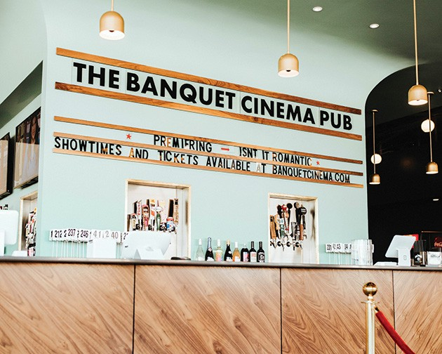 Banquet Cinema Pub shows a mixture of first-run, recent releases and classic movies. - ALEXA ACE