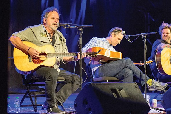 Bob DiPiero, Travis Hill and Jaret Reddick of Bowling for Soup perform at last year's Oklahoma Songwriters Festival. - PROVIDED